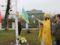 У Колках біля храму УПЦ освятили пам'ятний хрест на могилах воїнів Першої світової війни