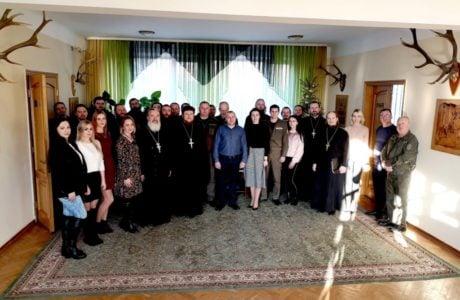 Представники Волинської єпархії привітали працівників Волинського обласного управління лісового господарства з Різдвом Христовим